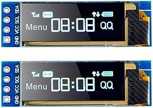 MakerFocus 2pcs I2C OLED Display Module 0.91 Inch I2C SSD1306 OLED Display Module Blue I2C OLED Screen Driver DC 3.3V~5V f...