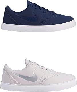 Official Brand Nike SB Check Canvas Skate Shoes Juniors Boys Skateboarding Trainers Sneakers