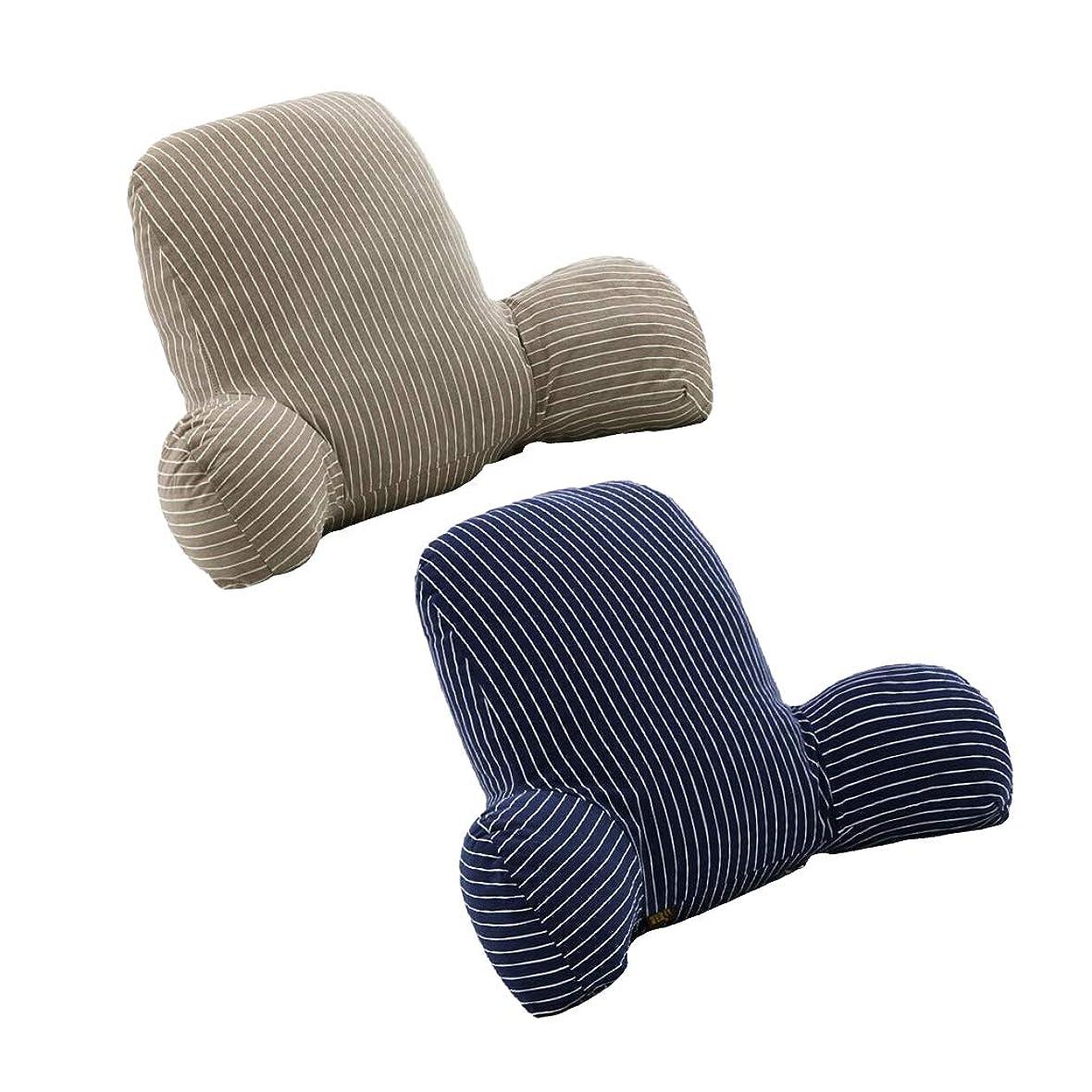 させるレッスンごみamleso 背中サポート 背もたれ 腰枕 オフィス 椅子 車用 リラックスクッション カバー洗える 2個