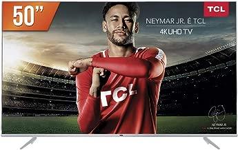 """Smart TV LED 50"""" Ultra HD 4K HDR com Wifi Integrado, TCL 50P6US, Prata"""