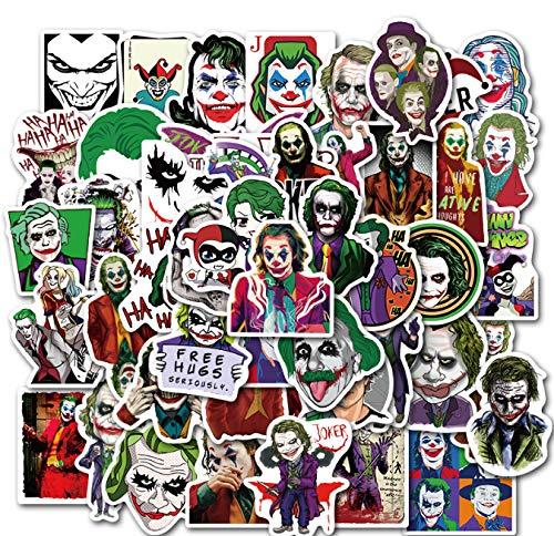 ZHENGJIB 50 Stücke wasserdichte Coole Film Die Joker Aufkleber Skateboard Koffer Gitarre Motorrad Lustige Graffitif DIY Aufkleber Kinder Spielzeug