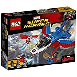 LEGO Marvel Super Heroes - La poursuite en avion de Captain America - 76076 - Jeu de Construction
