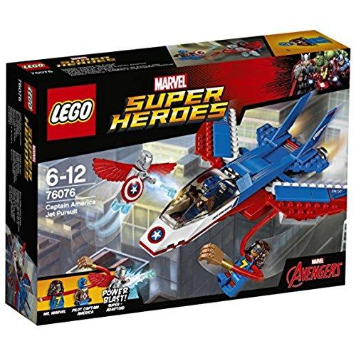 Lego Super Heroes-76076 Jet del Capitán América, Multicolo
