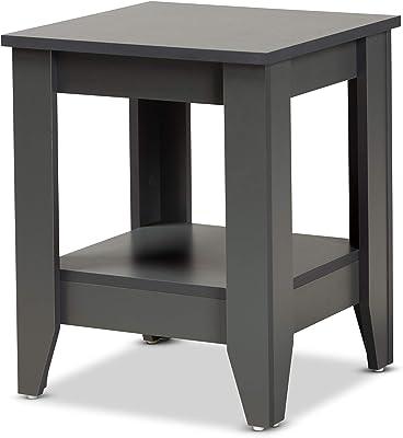 Baxton Studio 174-10990-AMZ End Tables, Grey