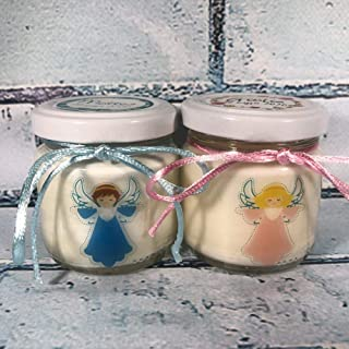 Comunione Battesimo Cresima 25 candele di cera di soia bomboniere Angelo custode Bomboniera Segnaposto ricordo ospiti