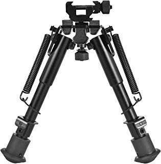 CVLIFE 6-9 Inches Tactical Bipod Adjustable Spring Return with 360 Degree Swivel Picatinny Adapter