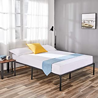 14 Inches Full Metal Platform Bed Frame, Mattress Foundation, No Box Spring Needed with Quick Assembly Heavy Duty Steel Slats, Noise Free, Non-Slip Pads, Holds up to 3500 LBS, Full