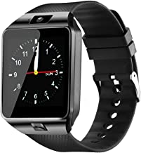 $24 » YIIXIIYN Smart Watch DZ09 Touchscreen Bluetooth Smartwatch Phone Sports Fitness Tracker with SIM SD Card Slot Camera Pedometer Compatible iPhone iOS Samsung LG Android for Women Men Kids (Black)