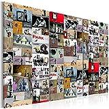 murando Cuadro Acústico Banksy Collage 135x90 cm - decoración de Pared - Lienzo - 1 Pieza - Cuadros XXL - Panel de Pared - Silencio - i-C-0089-b-f
