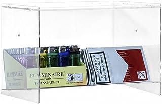 Espositore porta accendini / porta tabacco in plexiglass trasparente a 1 ripiano