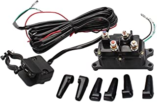 Bewant 12V Solenoid Relay Contactor and Winch Rocker Thumb Switch Combo Set for ATV UTV