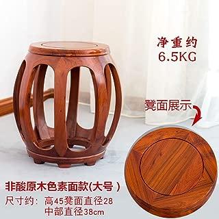 中国風 レッドウッド スツール チェア 椅子 オットマン 中国 レトロ クラシック木製 スツール リビング ルームの壁 ベッド ホーム-V 38x38x45cm(15x15x18in)