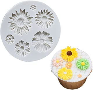 Sunflower Silicone Cookie Buiscuit Baking Molds Decorating Craft Mold