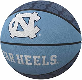Logo Brands NCAA North Carolina Tar Heels Rubber Basketball, Miniature, Light Blue