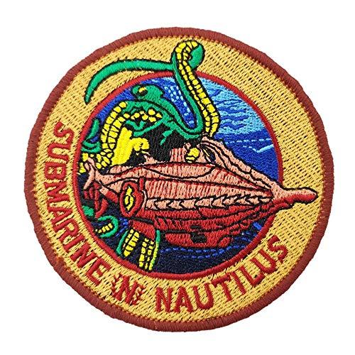 20.000 Liga Under The Sea U-Boot Nautilus bestickter Aufnäher zum Aufbügeln oder Aufnähen.