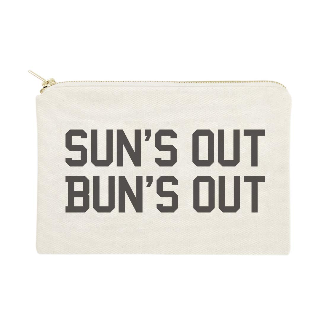 The Cotton & Canvas Co. Sun's Out Bun's Out Beach Cosmetic Bag and Travel Make Up Pouch