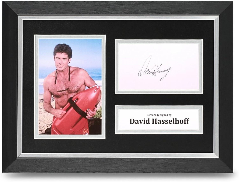 David Hasselhoff Signed A4 Framed Photo Display Baywatch Autograph Memorabilia