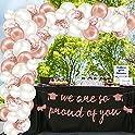 Larchio Graduation Banner Arch Balloons Kit (Rose Gold)