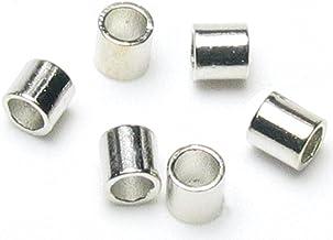 900pcs//10g Brass Crimp End Beads Smooth Tube Beads Jewelry Making Platinum 2x2mm