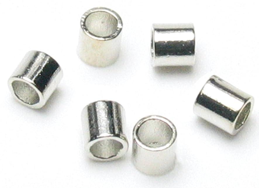 Cousin Jewelry Basics 500-Piece Crimp Tube, Silver, 2mm