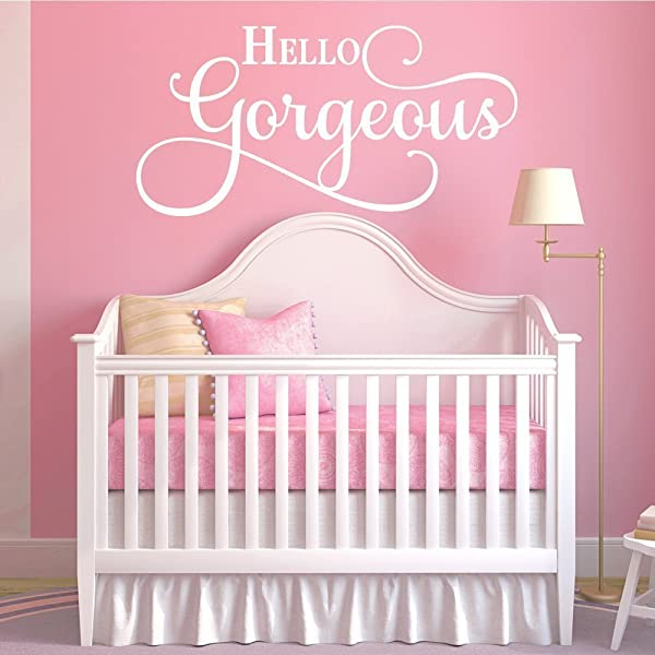 Hello Gorgeous Quote Vinyl Wall Decal Sticker Art