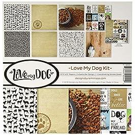 Reminisce (REMBC) Love My Dog Scrapbook Collection Kit, Multi Color Palette