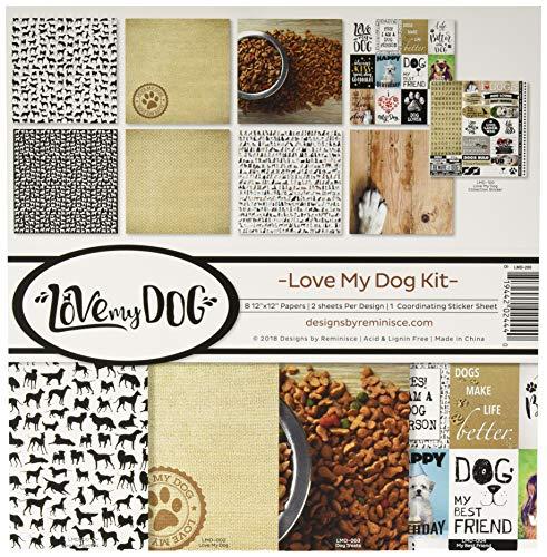 Reminisce (REMBC) Love My Dog Scrapbook Collection Kit, Multi Color Palette |