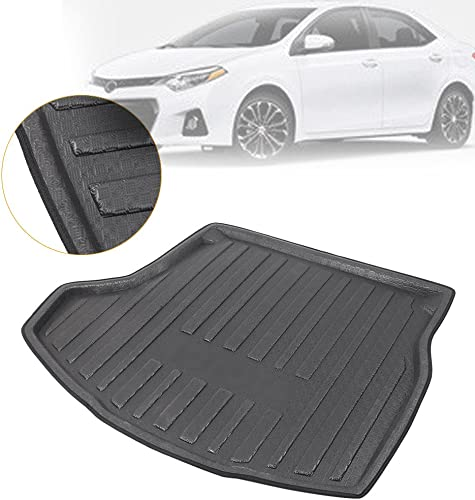lowest Mallofusa Cargo Liner Rear Cargo Tray Trunk Floor Mat outlet sale Compatible for Toyota Corolla Altis 11th Generation 2014 2015 2016 2017 discount Black online sale