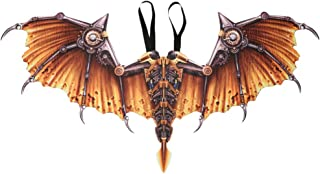 KESYOO Steampunk Dragon Wings Foldable Party Costume Wings Kids Adult Cosplay Wings for Carnival Masquerade Golden