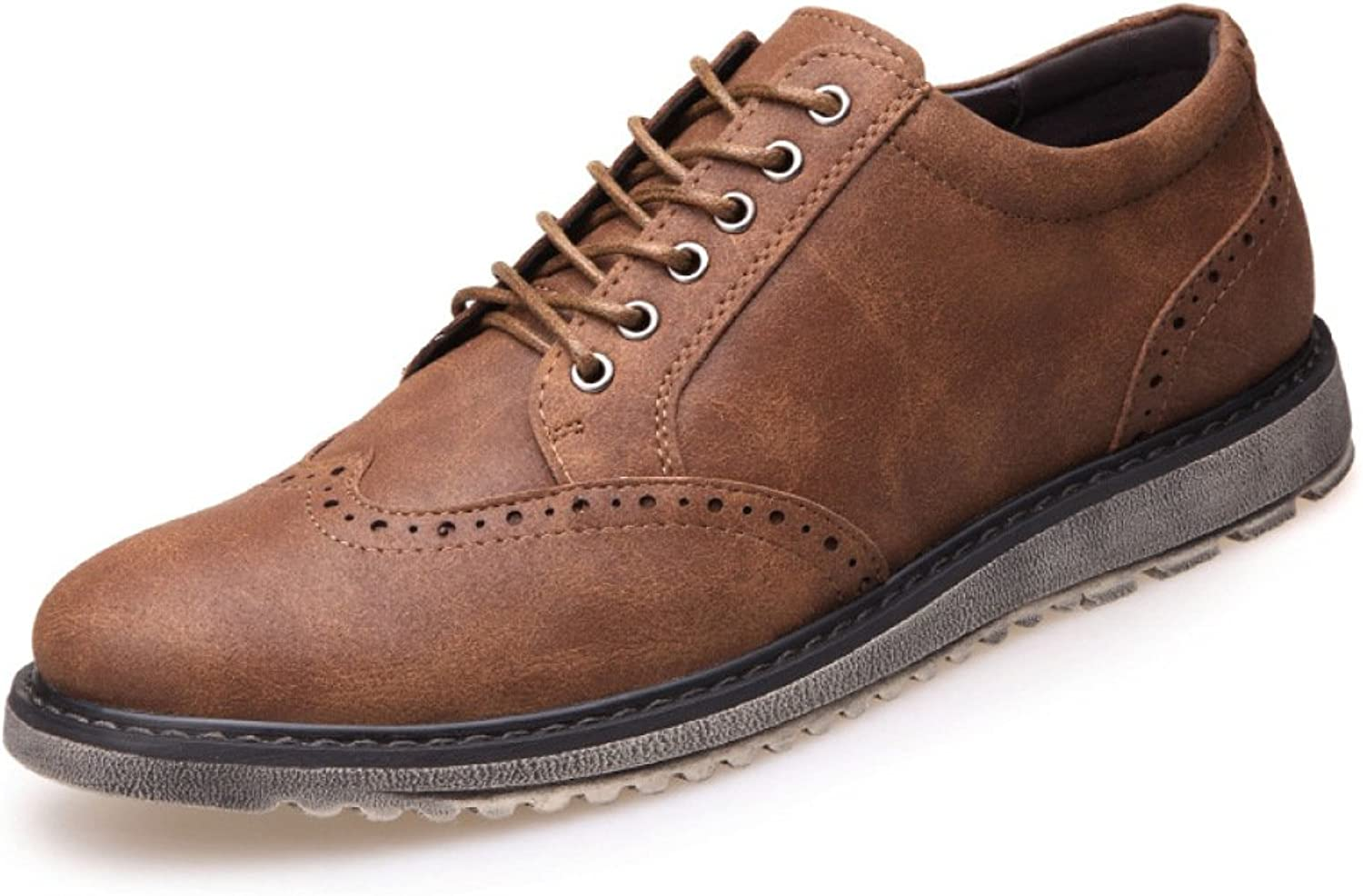 GTYMFH Men Tooling Leather shoes Leisure Business Lace shoes