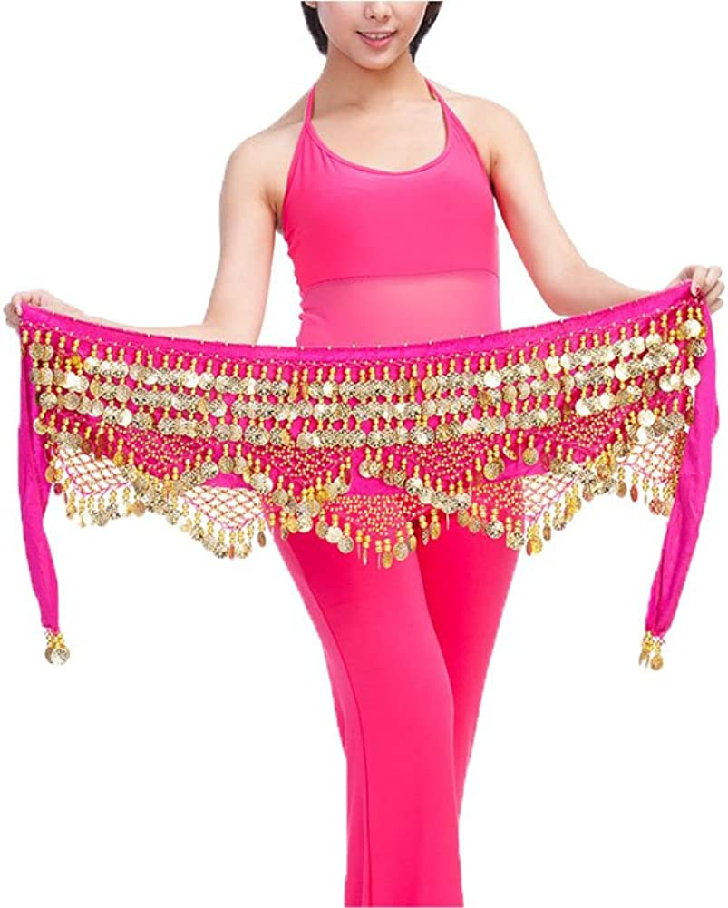 Bmeigo Belly Dance Hip Sales of SALE items from new Lowest price challenge works Scarf Costumes Gold Belt Coins Dancing