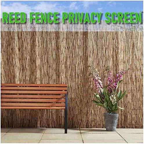 KANULAN Balcón Privacidad Pantalla Sombreado Reed Cortina Cortina Roller Persiana Reed FenceCerca de Jardín
