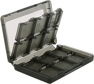 Ninendo Box Insten 28-in-1 Game Card Case Nintendo for NEW 3DS / 3DS / DSi / DSi XL / DSi LL / DS / DS Lite Cartridge Storage Solution Box, Black