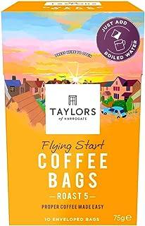 Taylors of Harrogate Flying Start Coffee Bags, 10 Enveloped Bags (Pack of 3, Total 30 Coffeebags)