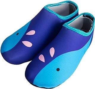 HausFine Kids Water Shoes Beach Socks Baby Girls Boys Toddler Quick-Dry Non-Slip Barefoot Water Shoes Swim Socks Aqua Wate...