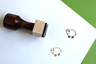 Sheep Wooden Rubber Stamp (0.5