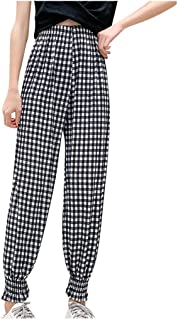 Women's High Waist Elastic Waist Trousers Casual Loose Lantern Pants Autumn Winter Relaxed Fit Ankle Length Pants
