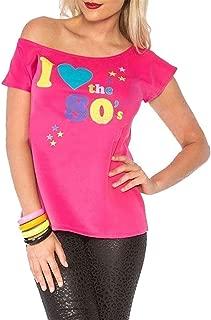 Camiseta para Mujer con Texto en inglés I Love The 80s Pop Star