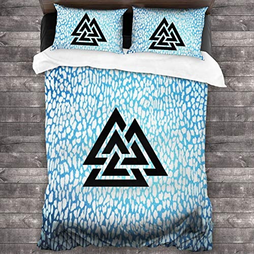RNFNRW DEW Good Witch Celtic Knot Teens Adults Soft and Comforter Duvet Cover Set Bedding Microfiber 86'X70' Cover Set with 2 Pillow Cover Set Bedspread Pillowcases
