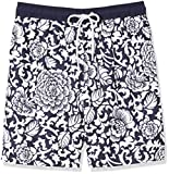 Amazon Essentials Men's Quick-Dry 9' Swim Trunk, Black Vintage Floral, X-Small