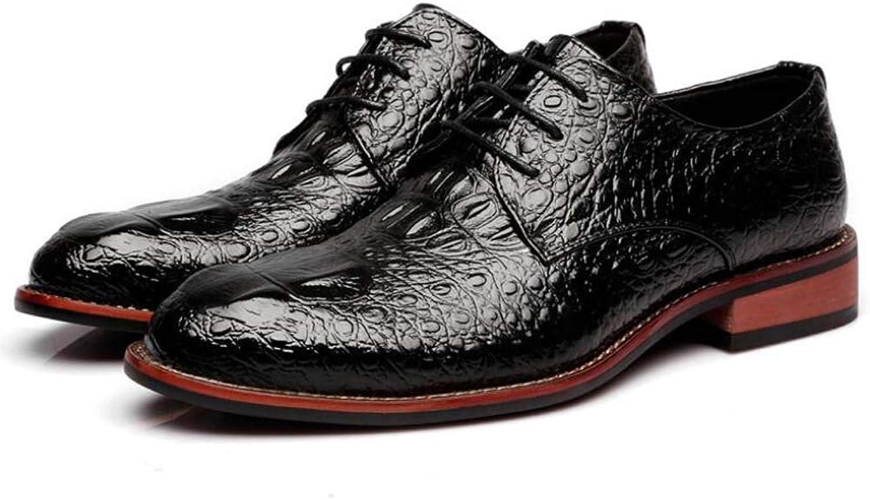 Män Pump -Business Casual läder läder läder skor bröllop Dress skor Crocodile Mönster Peed Toe Lace Up Monk skor EU Storlek 38 -43  köpa billiga nya