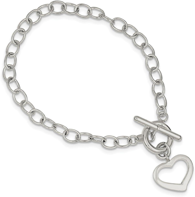 Beautiful Sterling silver 925 sterling Sterling Silver Open Link Heart Bracelet