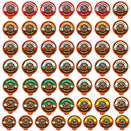 Crazy Cups Flavored Hot Chocolate Pods, Hot Chocolate Variety Pack, Single Serve Hot Chocolate for K Cups Brewers, Hot Cocoa in Recyclable Pods, 50 Count