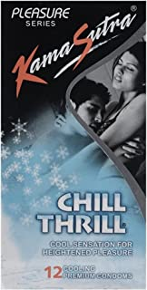 Kama Sutra Chill Thrill Cool Sensation for Heightened Pleasure Condoms 12s Packs - Pack of 2