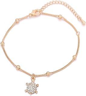 Finrezio 12 PCS Bracelets de Cheville pour Femmes Cha/înes de Cheville Bracelets R/églable Boho Tortue /Étoile de Mer Plage Cheville Bracelets Pied Bijoux Ensemble /À La Main