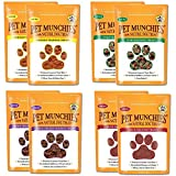 Pet Munchies Training Treats Mixed Pack of 8-2x Chicken + 2x Chicken & Liver + 2x Sushi + 2x Duck - All 4 Varieties in 1 Bundle