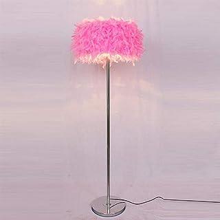 BXZ Lampadaire Plume Moderne Romantique Plume Sur Pied Lampadaire Chevet Lecture Lampadaire pour Salon Chambre E27 (Blanc,...