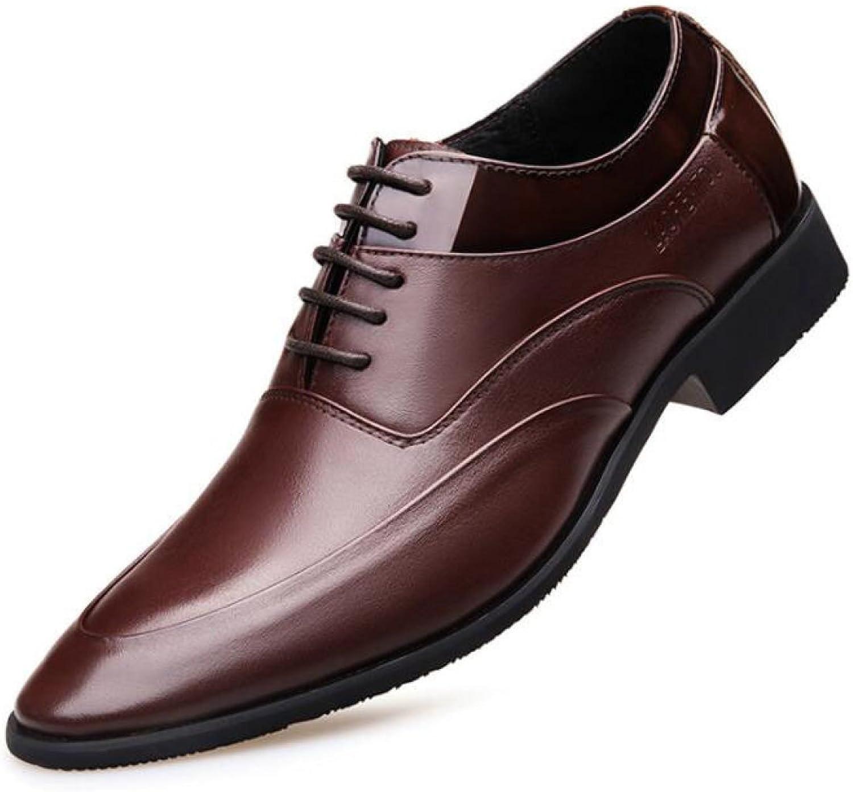 Men's shoes Men's Business shoes Leather England Lace Wedding shoes