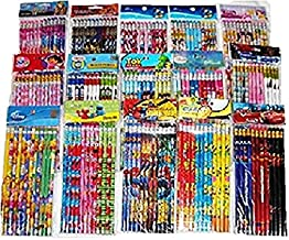180 pcs Disney Cartoon Character Licensed Wooden Pencil School Party Bag Fillers Supply