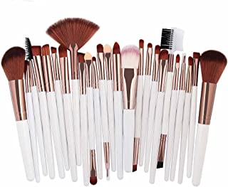 Clearance Sale! Makeup Brush Set, 25pc Cosmetic Makeup Brush Blusher Eye Shadow Brushes Tool Toiletry Kit (White)